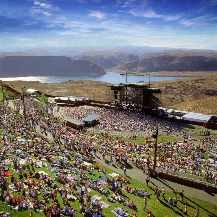 The Gorge Amphitheatre is also one of the most scenic concert ...