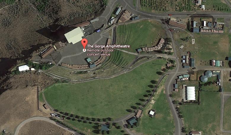 Gorge Amphitheatre Parking Gorge Amphitheatre