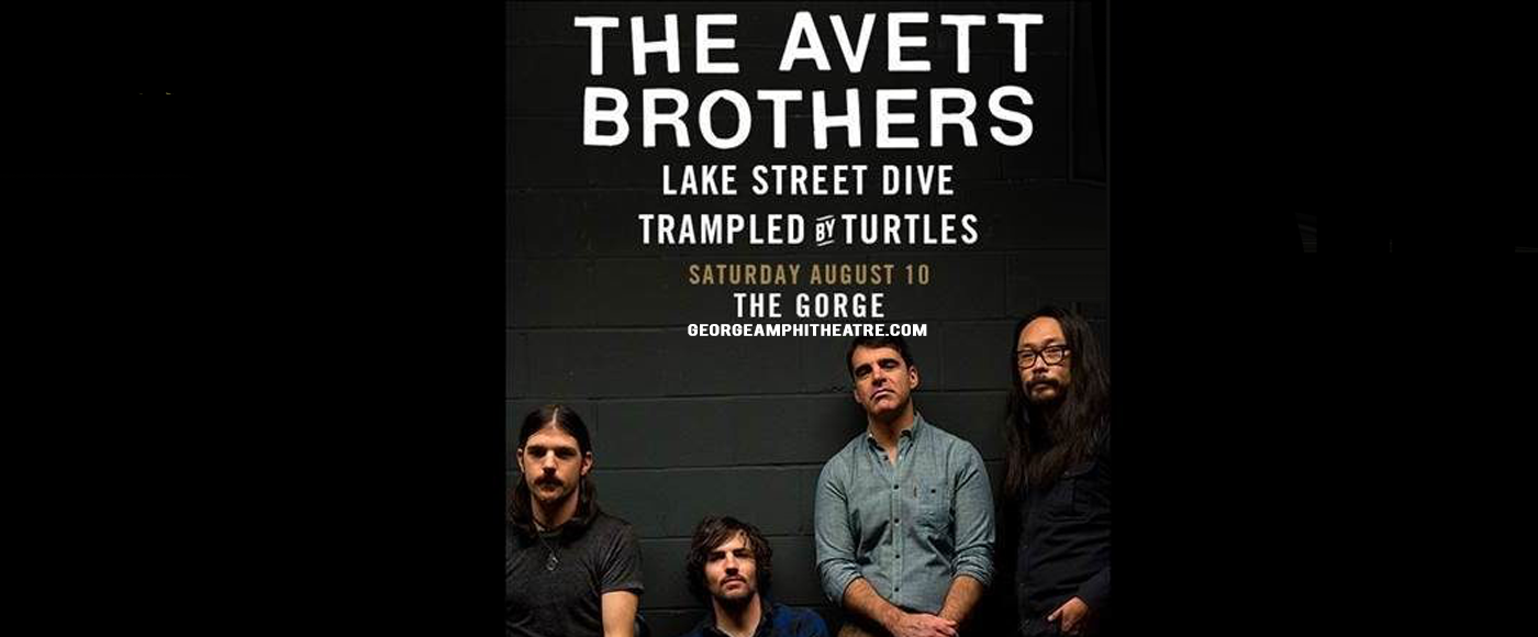 WEEKEND CAMPING: The Avett Brothers at Gorge Amphitheatre