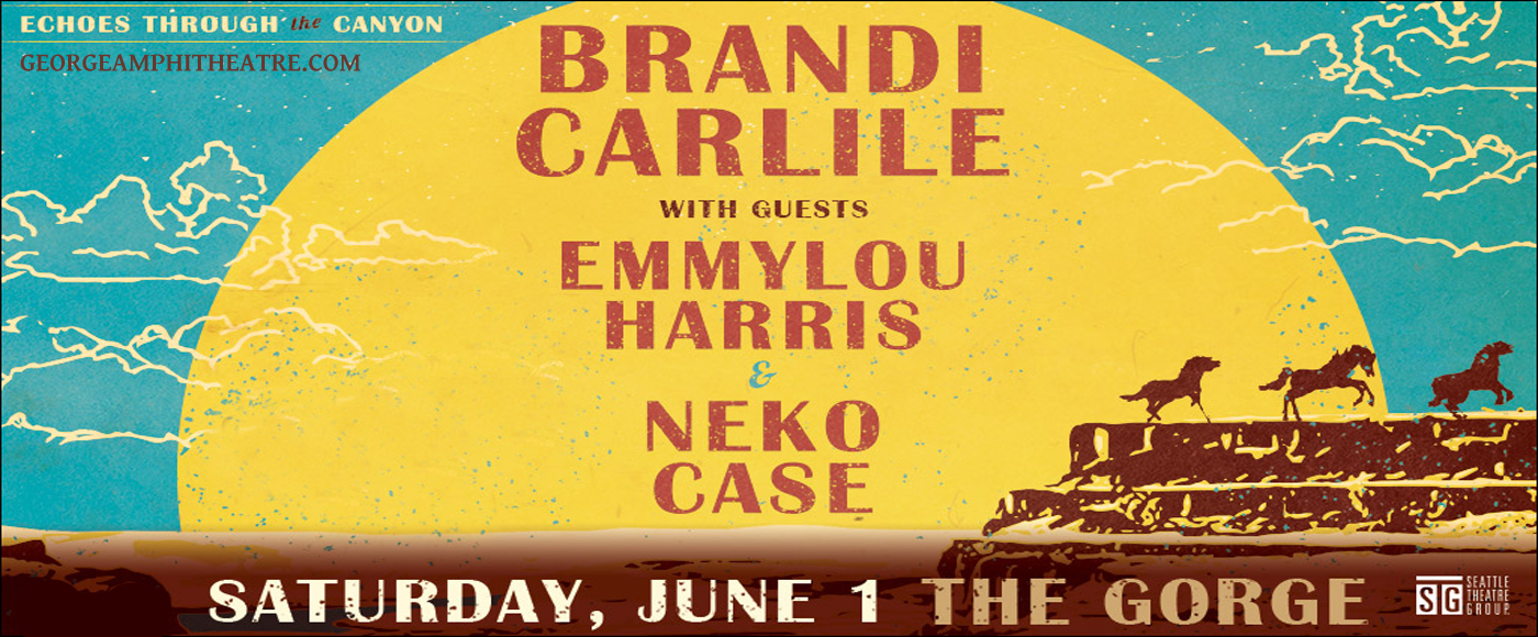Brandi Carlile - 3 Day Camping Pass at Gorge Amphitheatre