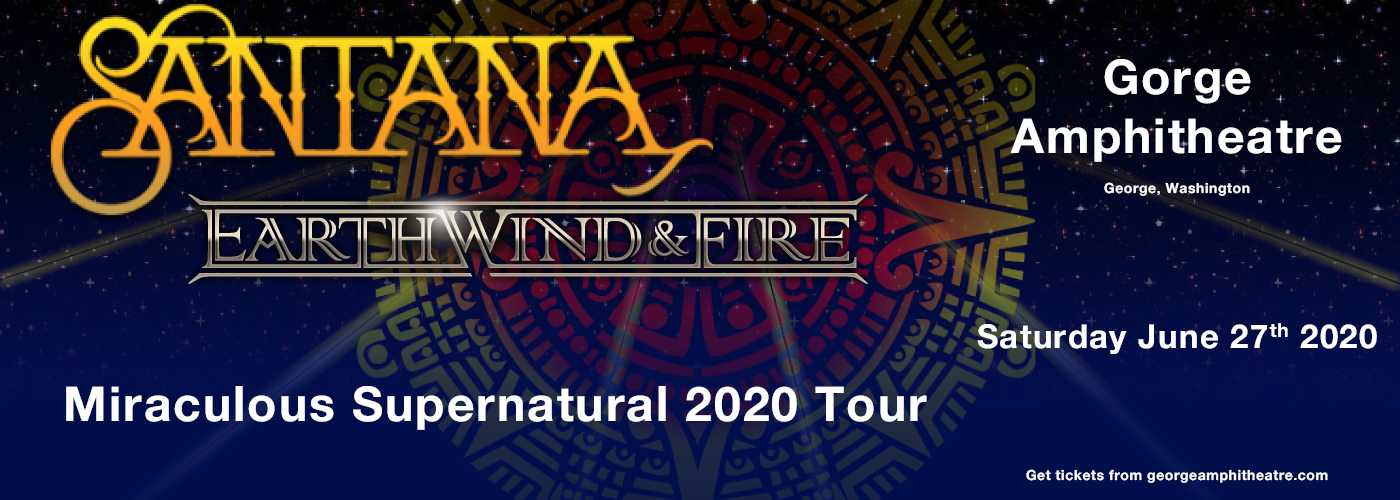 Santana & Earth, Wind and Fire at Gorge Amphitheatre
