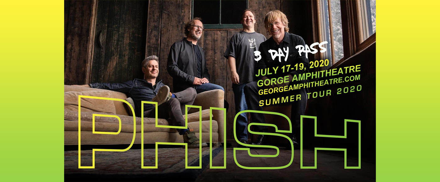 Phish - 3 Day Pass at Gorge Amphitheatre