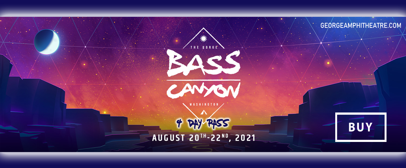 Bass Canyon Festival Camping - 4 Day Pass (8/19 - 8/22) at Gorge Amphitheatre