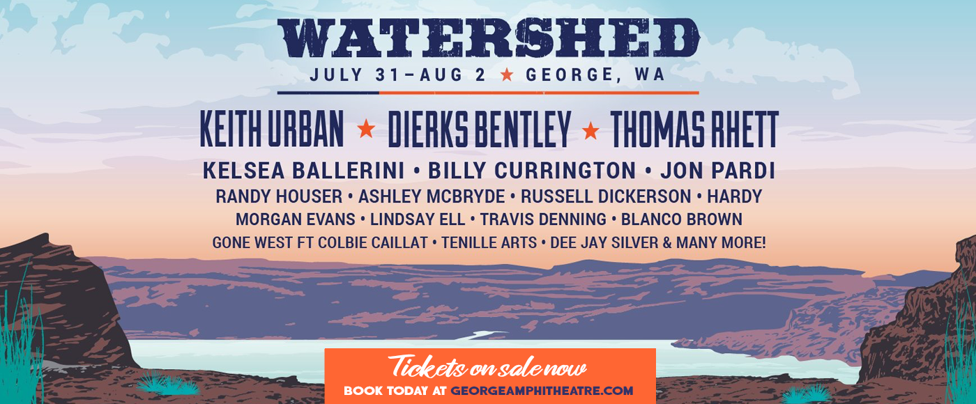 Watershed Festival - 3 Day Camping Pass (7/30-8/1) at Gorge Amphitheatre