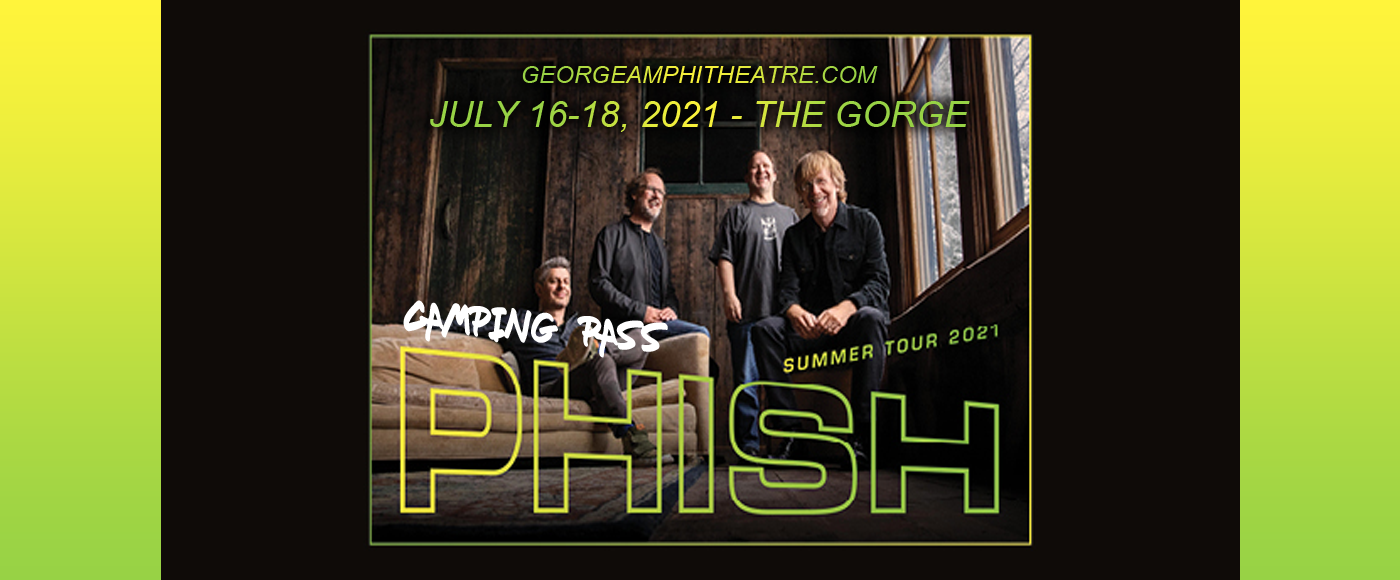 Phish Camping - Weekend Pass (Camping Only) at Gorge Amphitheatre