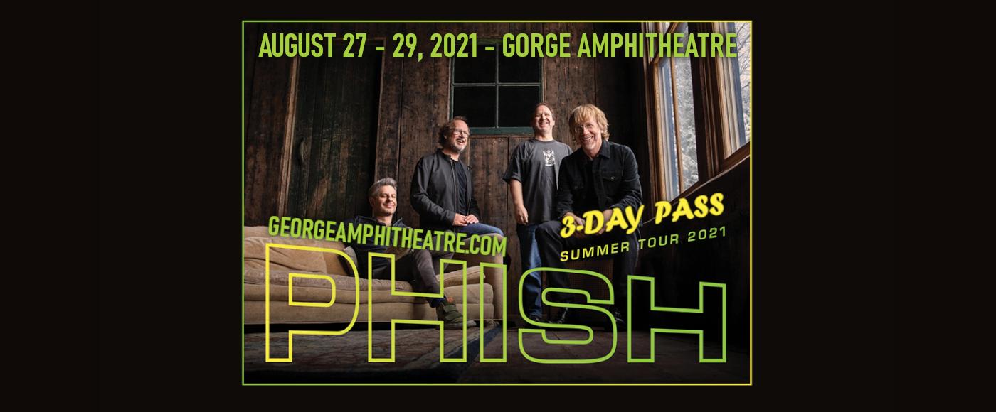 Phish - 3 Day Pass at Gorge Amphitheatre